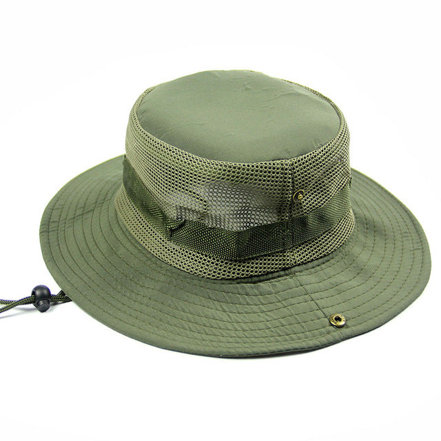 Men 39 s breathable fishing hat summer shade cap outdoor wide for Wide brim fishing hat