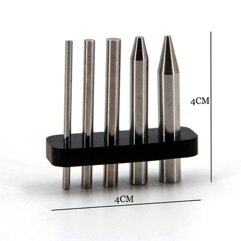 Finger Rock 3D Metal Puzzles Assembly Tools Used to Roll the Models Stainless Steel Sticks Circular Column Multipurpose Tools