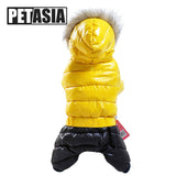 Winter Pet Dog Clothes Stitching Quilted Coat For Small Dogs Fur Hooded Doggie Clothing Pets Coats Jackets For Chihuahua