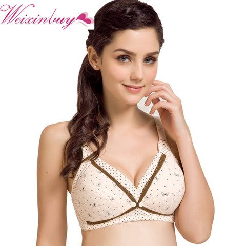 139a068bfc1e4 Maternity Wire Free Nursing Bra Nursing Bras Feeding For Pregnant Women  Flower Lace Underwear Front Closure