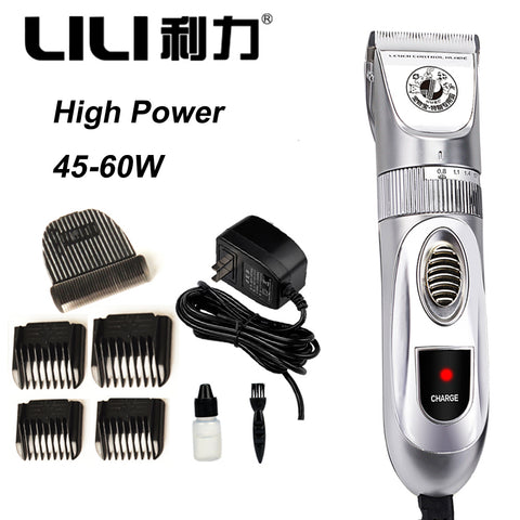 45-60W High Power Dog Hair Trimmer Pet Cat Rabbits Horse Animal Hair Clipper Shaver Dog Razor Grooming Trimmer Cutting Machine