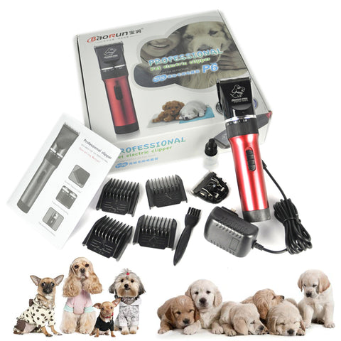 Under 60dB Electric Pet Hair Clipper Dog Hair Trimmer Pet Grooming Tools Rechargeable Pets Animals Cat Haircut Shaver Machine