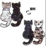 2017 NEW cat Reversible Change color Sequins Sew On Patches for clothes DIY Patch Applique Bag Clothing Coat Jeans Craft fk