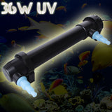NEW Jebo 36W 700L/H Aqaurium UV Sterilizer Lamp Ultraviolet Light Clarifier Pond Filter + 1 UV Replace Light
