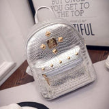 Mara's Dream Women PU Leather Backpack Rivet Stud Punk Style Ladies Girl Casual School Backpacks Bolsa Feminina Shoulder Bags