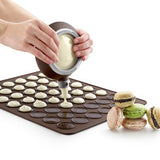 Kitchen Silicone Macaron Pastry Oven Baking Mould Macaroon Sheet Mat 30-Cavity DIY Mold Baking Mat MYDING