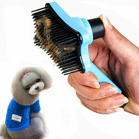 Pet Cat Hair Brush Fur Shedding Dog Grooming Tool Dog Hair Brush Remove Trimmer Pet Grooming Cat Comb Rake Professional Comb 30D