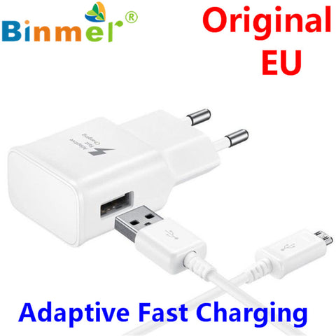 Brand New 100% Original 5V2A Micro USB EU Adaptive Fast Charging Charger For Samsung Galaxy S7/S7Edge/S6/ S6 Edge