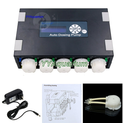 FREE SHIPPING JEBAO DP-5 VERSION 2 AUTO SMART DOSING PUMP FOR FISH SALTWATER MARINE REEF 5 CHANNEL