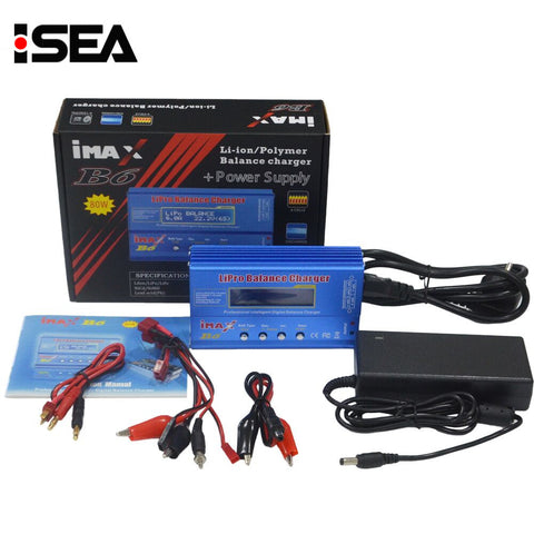 iMAX B6 80W 15V 6A RC Balance Charger Discharger Lipo NiMh Li-ion Ni-Cd Battery Charger With AC Power Adapter