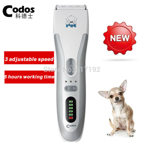 2017 Codos CP-8100 Professional Pet Dog Hair Trimmer Dog Electric Shaver Rechargeable Dog Grooming Clipper