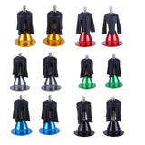 1 Pair Bike Handlebar End Plugs MTB Road Bicycle Cycling Aluminum Handlebar Grips High Quality Handle Bar Cap Stoppers 6 Colors