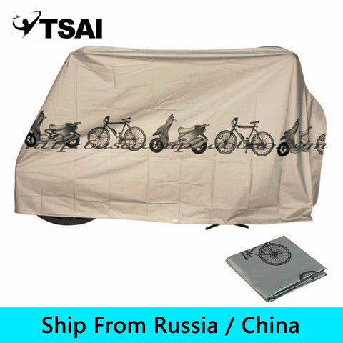 (Ship From Russia / China) 200*110cm Universal Waterproof Bicyle Cover Bike Rain Cover UV Protector Cycling Dustproof Cover