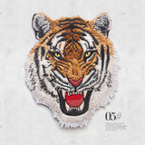 1Pcs Leopard Tiger lion wolf Embroidery Iron on Patches for Clothing Applique DIY Hat Coat Dress Accessories Cloth Sticker Anima