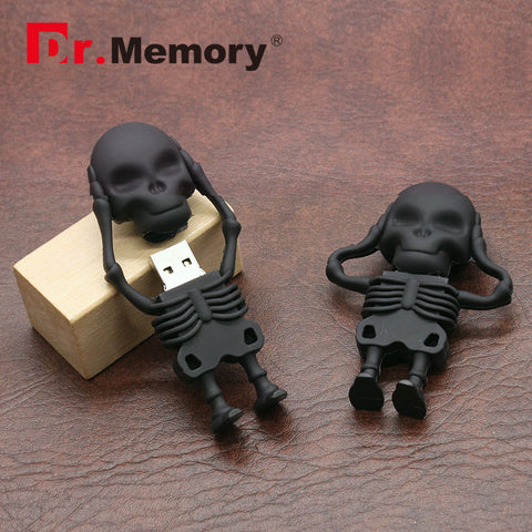 Dr.Memory Cool Skeleton Alien USB Flash Drive 32GB/16GB/8GB USB 2.0 Pen Drive Download Memory U Disk High Speed Pendrive Stick