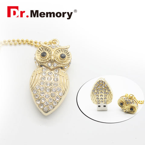 Metal USB Flash Drive Metal Owl Pen Drive 4gb 8gb 16gb 32gb Flash Drive Hot Selling Pendrive Owl