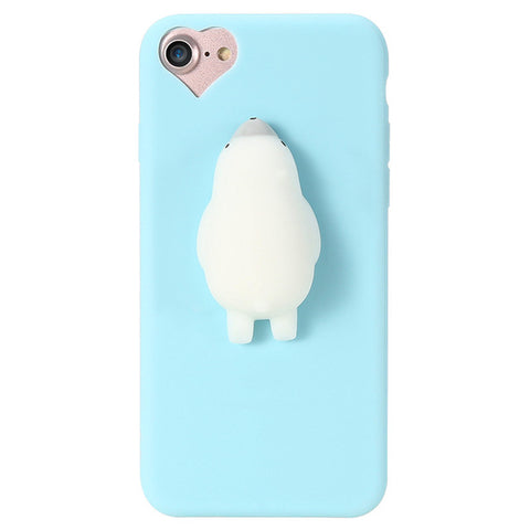 KISSCASE 3D Cartoon Soft Case For iPhone 5s 5 se Lovely Squishy Phone Case for iPhone 7 6 6s Plus Ultra Slim Plastic Cover Coque