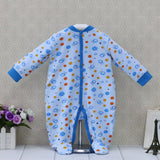 2017 Newborn Baby Girls Rompers Long Sleeve Pure Cotton One Piece Overalls Button Sleepwear Children Clothes Cute Kids Clothing