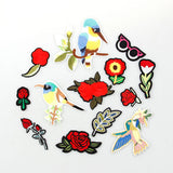 1PCS Small Flowers ,Birds For Clothing Iron On Embroidered Sew Applique Cute Patch Fabric Badge Garment DIY Apparel Accessories