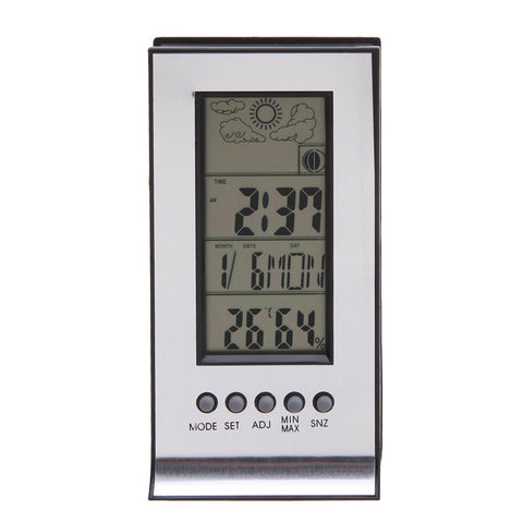 LCD Digital Thermometer Hygrometer Weather Station Indoor Electronic Humidity and Temperature Monitor Clock For Baby Room TH4