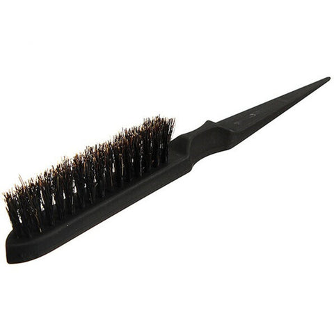 Salon comb hair teasing brush three row natural boar bristle hair comb F717