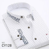 Dudalina Men Shirts Cotton Fashion Long Sleeve Casual Shirt  Tops Floral Print Embroidery 2017 New Brand Dress Men Blouses shirt
