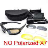 Polarized DAISY. X7 Army Sunglasses, Military Goggles 4 Lens Kit, War Game Tactical Outdoor Men's Glasses