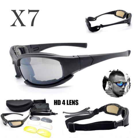 Daisy X7 Tactical Goggles Outdoor Sports UV Protective Sports Shooting Men Sun Glasses