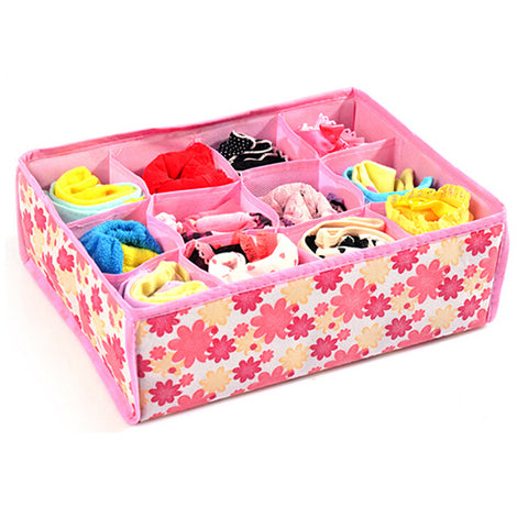 2015 New 12 Cells Socks Underwear Ties Drawer Closet Home Organizer Storage Box Case 1NGS 517B