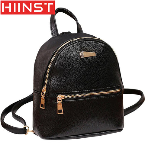 HIINST Backpacks for girls teenagers softback backpack female leather school Rucksack Shoulder Satchel Travel mini Bag Y7127