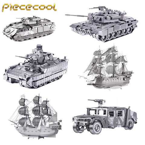 PIECECOOL NEW 3D Metal Assembly Model Jigsaw Toys NAGATO CLASS BATTLESHIP Puzzle Military Series TANK SHIPS Fighter