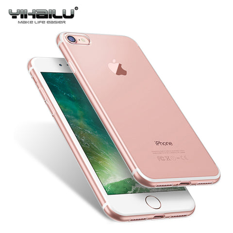 Case For Apple iPhone 7 8 Case Soft Silicone Clear Transparent TPU Back Cover For iPhone 7 8 Plus Case For iPhone7 Cover Caso