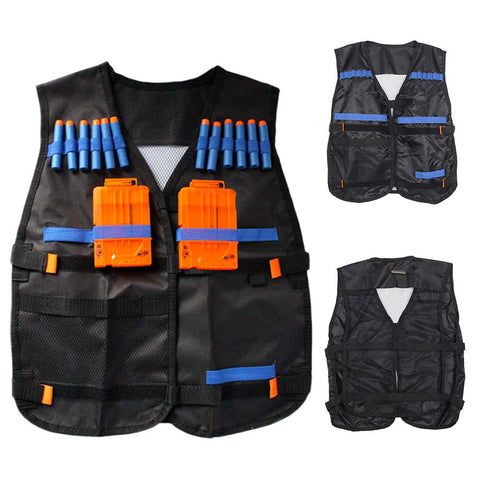 2018  new Top Tactical Vest For 12 Darts and 4 Ammo Clips In Nerf Elite N Strike Games Black