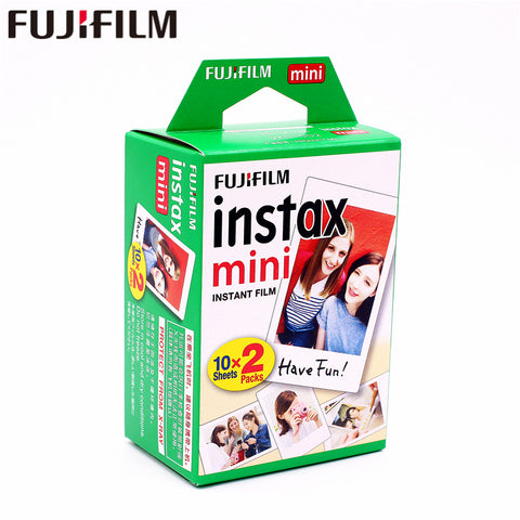 Original Fuji Fujifilm instax mini 8 film 20 sheets white Edge film for instax Instant Camera mini 8 7s 25 50s 90 9 photo paper