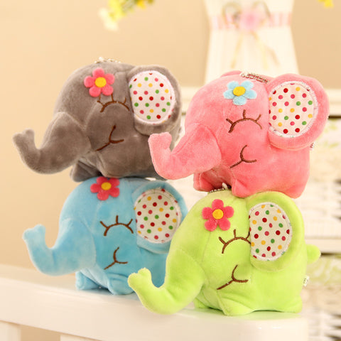 4 Styles Floral Elephant 10-22CM Approx Toys For Children Christmas Hobbies Dolls Stuffed Animals Plush Window Pendant Bouquet