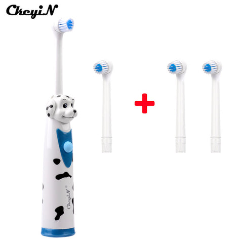 CkeyiN 4 Head Kids Toothbrush Rotary Children Electric Toothbrush Waterproof Sonic Electric Massage Teeth Brush Dental Care 43