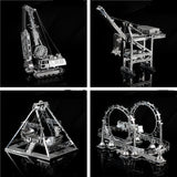 3D Metal assembly model Cable Car Roller coaster A pirate boat Amusement facilities Puzzle Toys Creative gifts Mountain bike