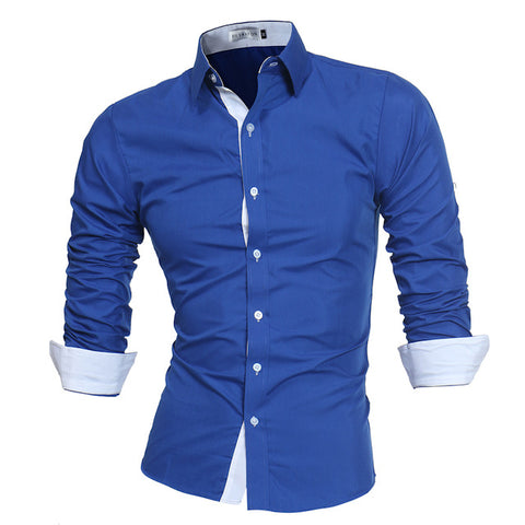 Lacontrie Men Shirt Brand 2018 Male High Quality Long Sleeve Shirts Casual Slim Fit Black Man Dress Shirts Plus Size 4XL
