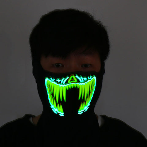 Halloween Led Mask Luminous Skull Mask Maske Masque Horreur Halloween Decoration Craft Supplies Halloween Mask  Without Battery