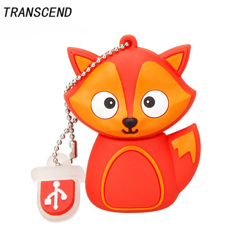 Transcend latest cartoon owl fox flash drive pen drive usb flash drive 4GB 8GB 16GB 32GB 64GB U disk personal memory stick gif
