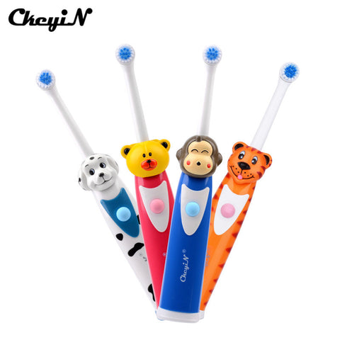 CkeyiN Cute Children Cartoon Pattern Electric Toothbrush Oral Hygiene Electric Massage Teeth Care Kids Toothbrush Cleanser 39