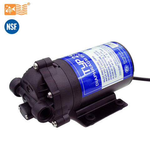Coronwater RO 24V 50gpd Water Booster Pump 2500NH Increase Reverse Osmosis Water System Pressure