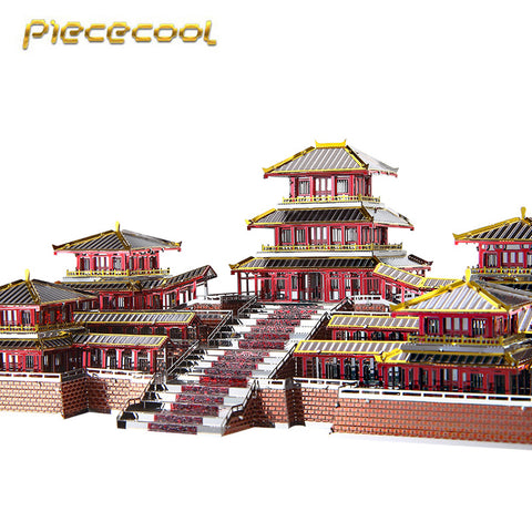 Piececool 3D Metal Nano Puzzle Epang Palace Building Model Kits P094-RSK DIY 3D Laser Cut Assemble Jigsaw Toys