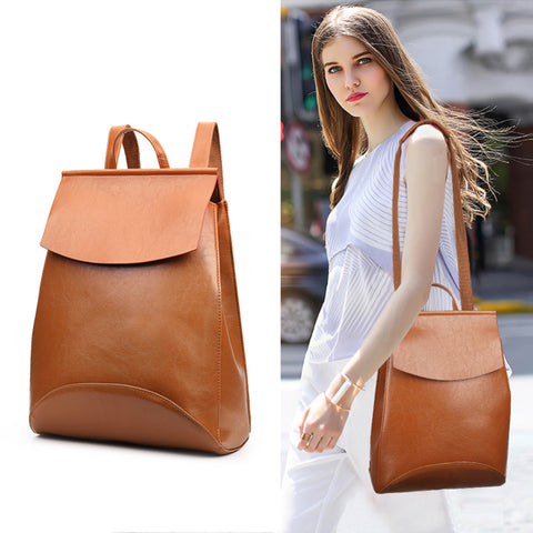 Vintage bolsos Korean Style women Leather Backpack Female Bagpack backpack waterproof schoolbags for women bolsos mochila mujer