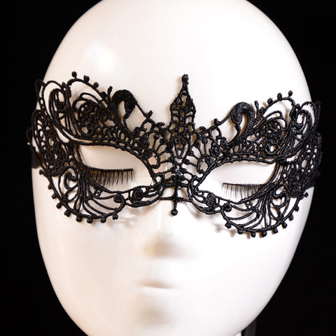 Newest Lady Black Lace Floral Eye Mask Venetian Masquerade Fancy Party Dress  Levert Dropship dig6822