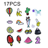 15PCS/Set Mixed Iron on Patches For Clothing Shirt Jacket Embroidered Clothing Patches Stripes Stickers For Clothes Decoration