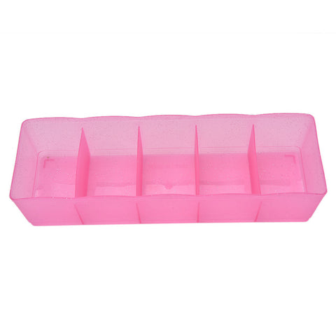Multi-function Desktop Drawer Storage Box Clothing Organizer Five Grid Storage Box Underwear Socks Bra Ties Organizer