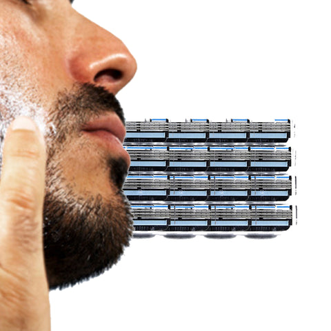 16pcs/lot Men's Razor Blades Safety Shaving Blades For 3-Layer Shaving Razor Face Care Shaving Machine  For M3 shaving cassette
