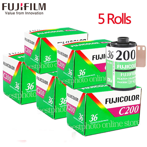 5 Roll/lot Fujifilm Fujicolor C200 Color 35mm Film 36 Exposure for 135 Format Camera Lomo Holga 135 BC Lomo Camera Dedicated