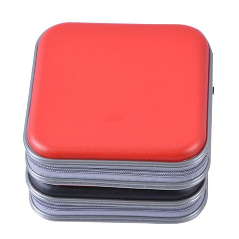 ALLOYSEED Portable 40pcs Disc CD DVD Wallet Storage Organizer Case Boxes Holder CD Sleeve Hard Bag Album Box Cases with Zipper